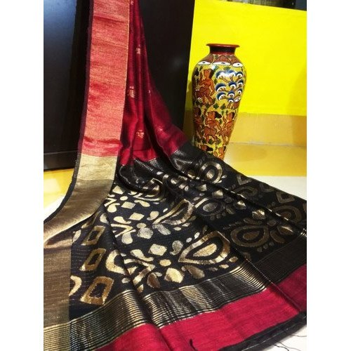 Matka Silk Jamdani Saree, Length: 6.3 m