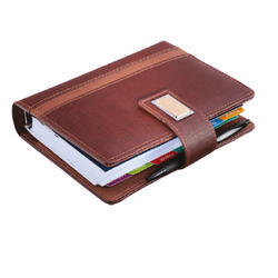 Leatherite Gold Fitting Business Organizer