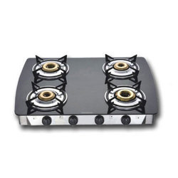 Black And Silver 4 Burner Gas