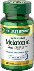 Nature's Bounty Quick Dissolve Melatonin Cherry -- 3 Mg - 240 Tablets, Pack Size: 180