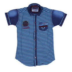 Cotton Regular Wear Printed Kids Shirt