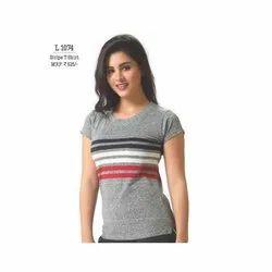 Ladies  Strip T Shirt