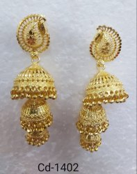 Golden Jhumkhis