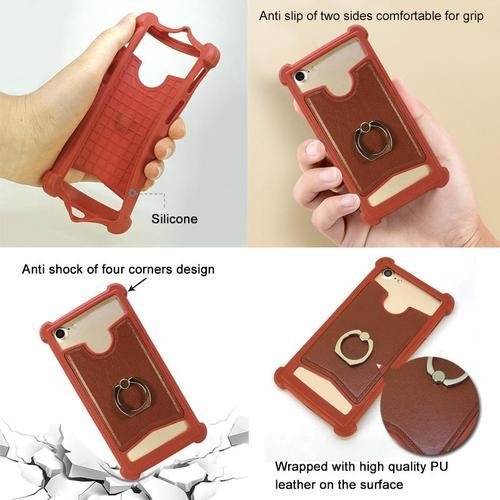 size 40 a822f fef67 Universal Silicone Mobile Case With Finger Ring Holder