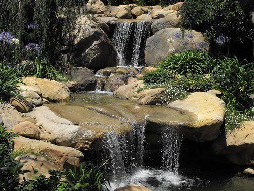 Garden Pond Ideas Waterfall