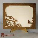 Wooden Frame Type Wedding Card