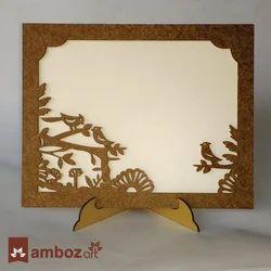 Wood Wooden Frame Type Wedding Card