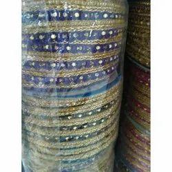 Multicolor Garments Border Lace
