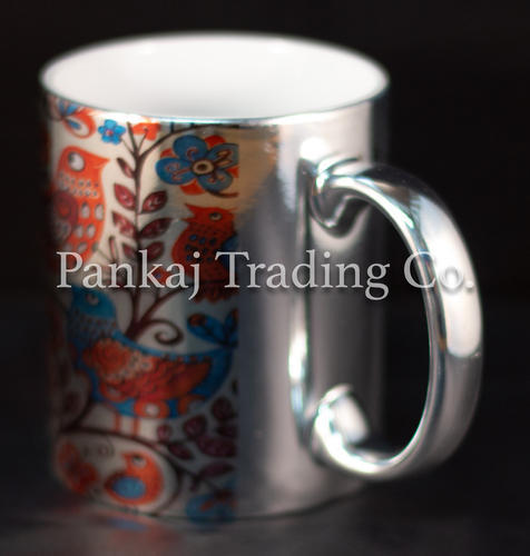 664d9278314 Metallic Silver Ceramic Sublimation Mug, Size: Dye Sublimation, Rs ...