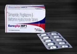 Glimepiride 1 mg, Metformin 500 mg & Pioglitazone 15 mg (ER)