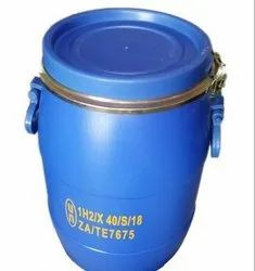 Blue Chemicals HDPE Un Approved 30 Ltr Open Top Drum, For Commercial, Capacity: 50-100 litres