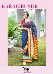 Karagiri Silk Saree Supernet Art Silk Saree By Yadu Nandan Fashion