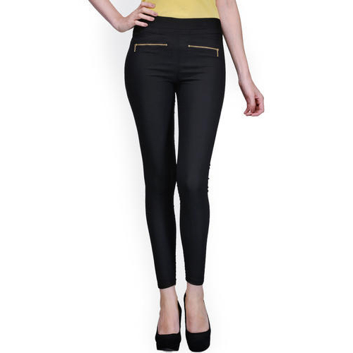 4d0eec7fdbf99 Plain Casual Wear Black Ladies Jeggings, Rs 100 /piece, Maheshwari ...