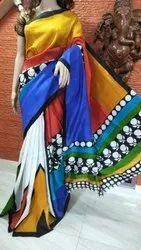 Party Wear Printed Pure Mursidabad Silk Saree
