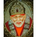 Gold Wooden Miniature Sai Baba Painting