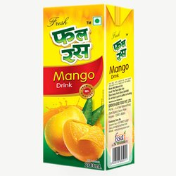 Fal Ras Mango Juice, 1 Pack Contains: 27 Pieces, Packaging Size: 200 ml
