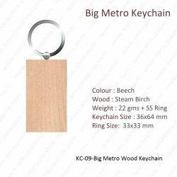 Wooden Keychain-KC-09-Big Metro Keychain