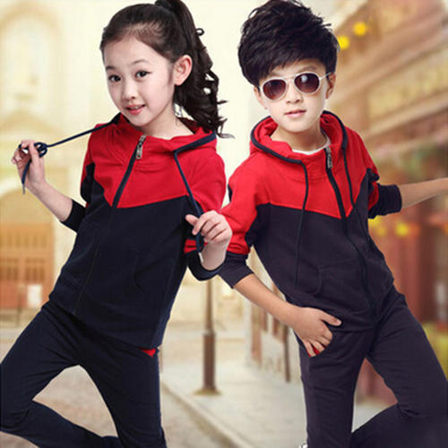 df00c093f0a0e2 Red And Blue Pc Fleece Kids Tracksuits