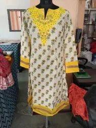 Chanderi Embroidery Kurta