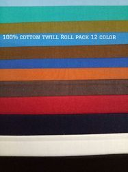 Cotton Shirting Twill Roll Fabric