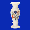 Marble Inlay Flower Shape Design Vase