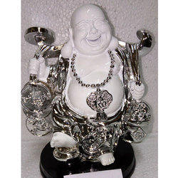 White Antique Laughing Buddha