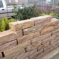 Golden Brown Sandstone Walling