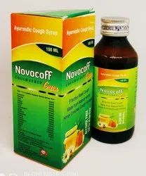 Novocuff Green Herbal Cough Syrup (Honey Base), Bottle Size: 100 ml