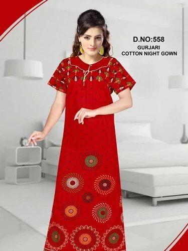 723d4adc53 Gurjari Cotton Printed Half Sleeves Nighty, Rs 150 /piece | ID ...