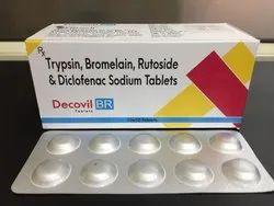 Trypsin ,Bromelain ,Rutoside & Diclofenac Sodium Tab