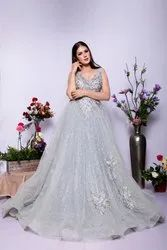Western Stitched Princess Ball Gown Reception Look Cocktail Look