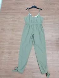 Organic Cotton solid  fancy ladies dungaree