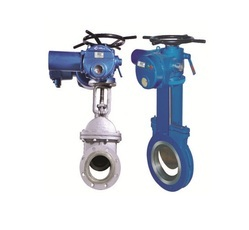 Electric Actuator Operated Knife Gate Valve