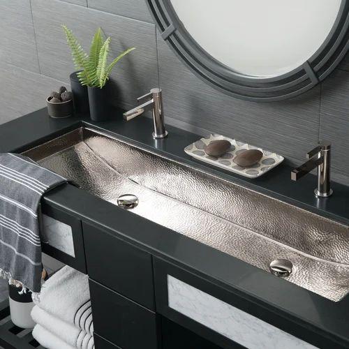 Metal Bathroom Sinks Turret Art, Metal Bathroom Sink