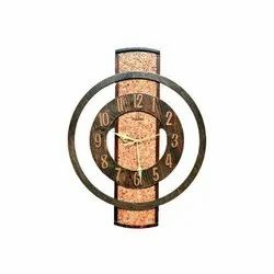 Teak Wood Analog Decorative Wooden Wall Clock