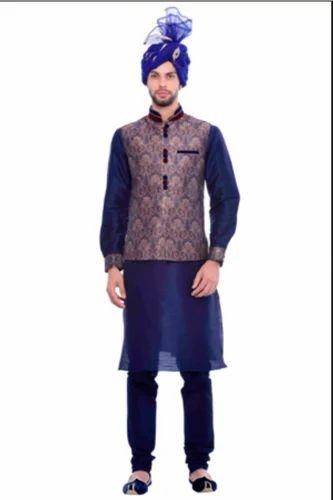 4536fff5c71 JAST020-306 Exquisite Jacket With Princely Blue Kurta Set