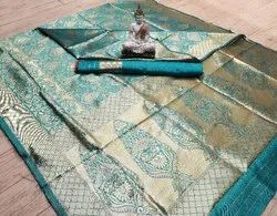 Designer Heavy Jacquard Saree With Blouse