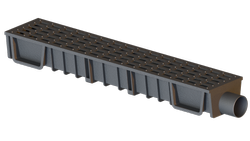 PVC Drain Channel With  Grating