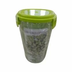 Plastic 3 Sections Air Tight Transparent Food Container, Round, Size/Dimension: 23 X 12 X 9 Cm