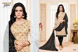 V Neck Maarisha Salwar Suit Fabric