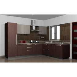 MDF L Shape Modular Kitchen