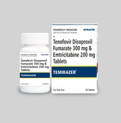 Temirazer - Tenofovir Disoproxil Fumarate 300 Mg & Emtricinate 200 Mg Tablets Ip