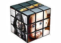 Customized 3 Layered Rubik Cubes - White Background