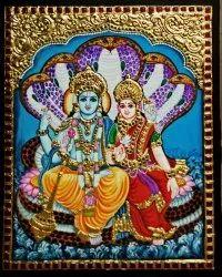 Lakshmi Narayanar Tanjore Painting