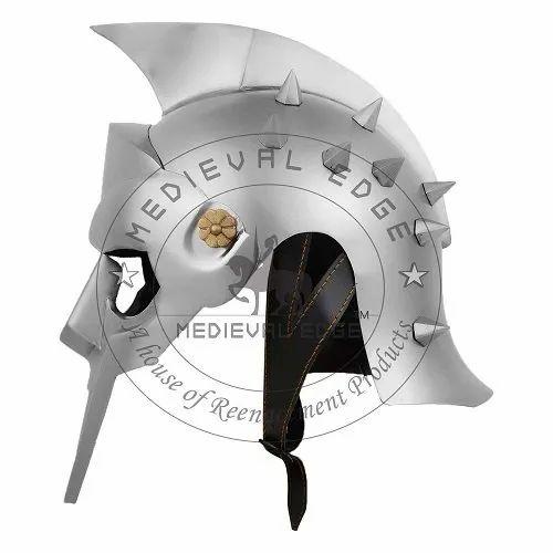 Medieval Helmet - Crusader Spangenhelm With Face Guard