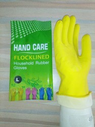 Yellow Unisex HOUSEHOLD RUBBER GLOVES, house hold