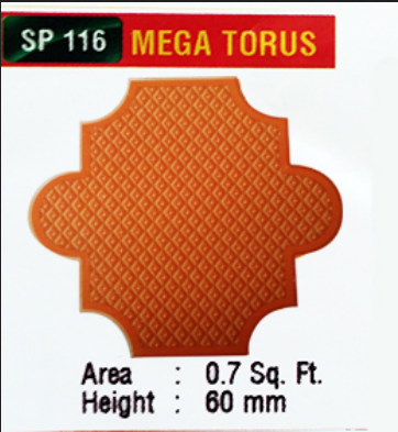 Orange SP 116 Mega Tours Interlock Pavers