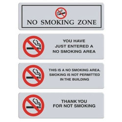SS No Smoking Zone Wall Signage