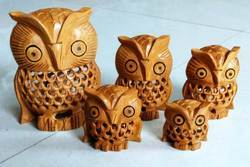 Wooden Undercut Owl Set