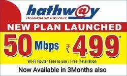 Hathway Router wired Internet Service Provider In Hyderabad, Fiber technology optical